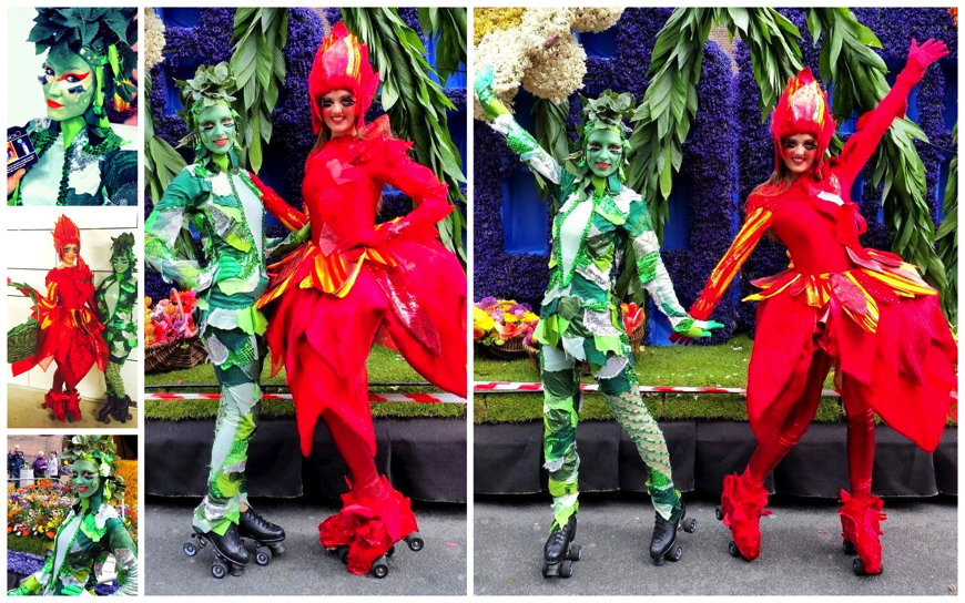 Cirque Entertainers Rood-Groen - (Mobiele Act)