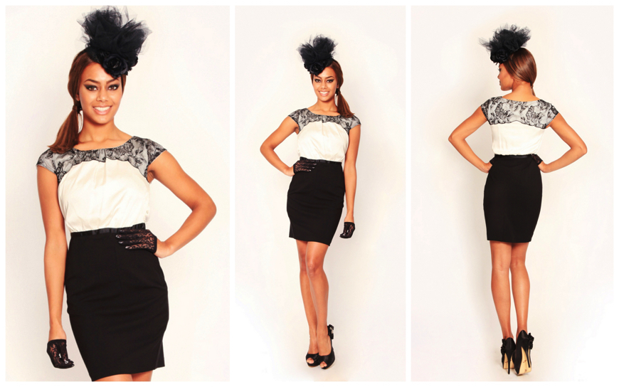 Hostess - Black en White - (Modellen H16)