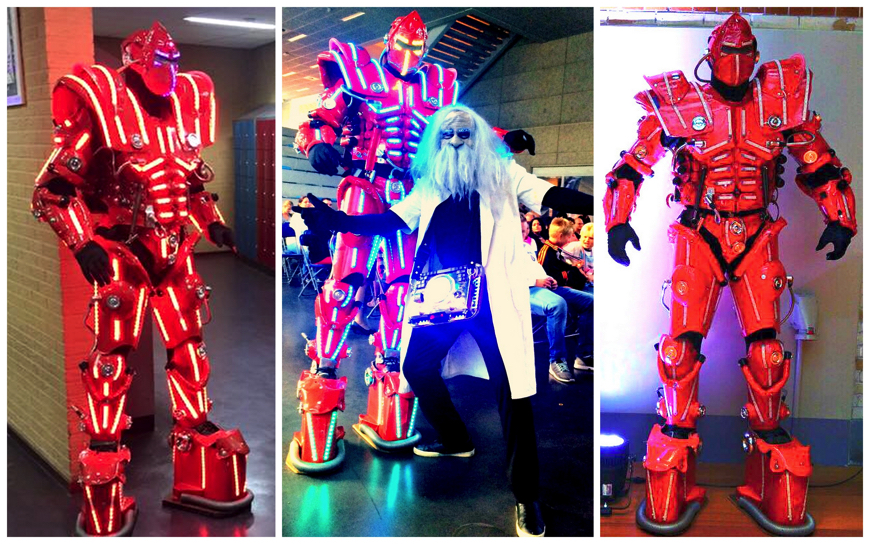 Led Robot Red - (Mobiele Act)