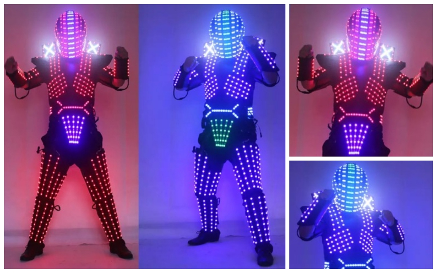 Super LED Robots - (Mobiele act)